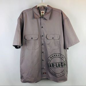 Dickies XL Button-up with Girl Graphic on back